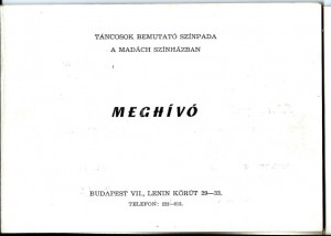Táncantológia meghívó (1) - 1968