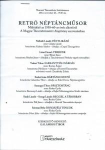 2012. Retró néptáncműsor